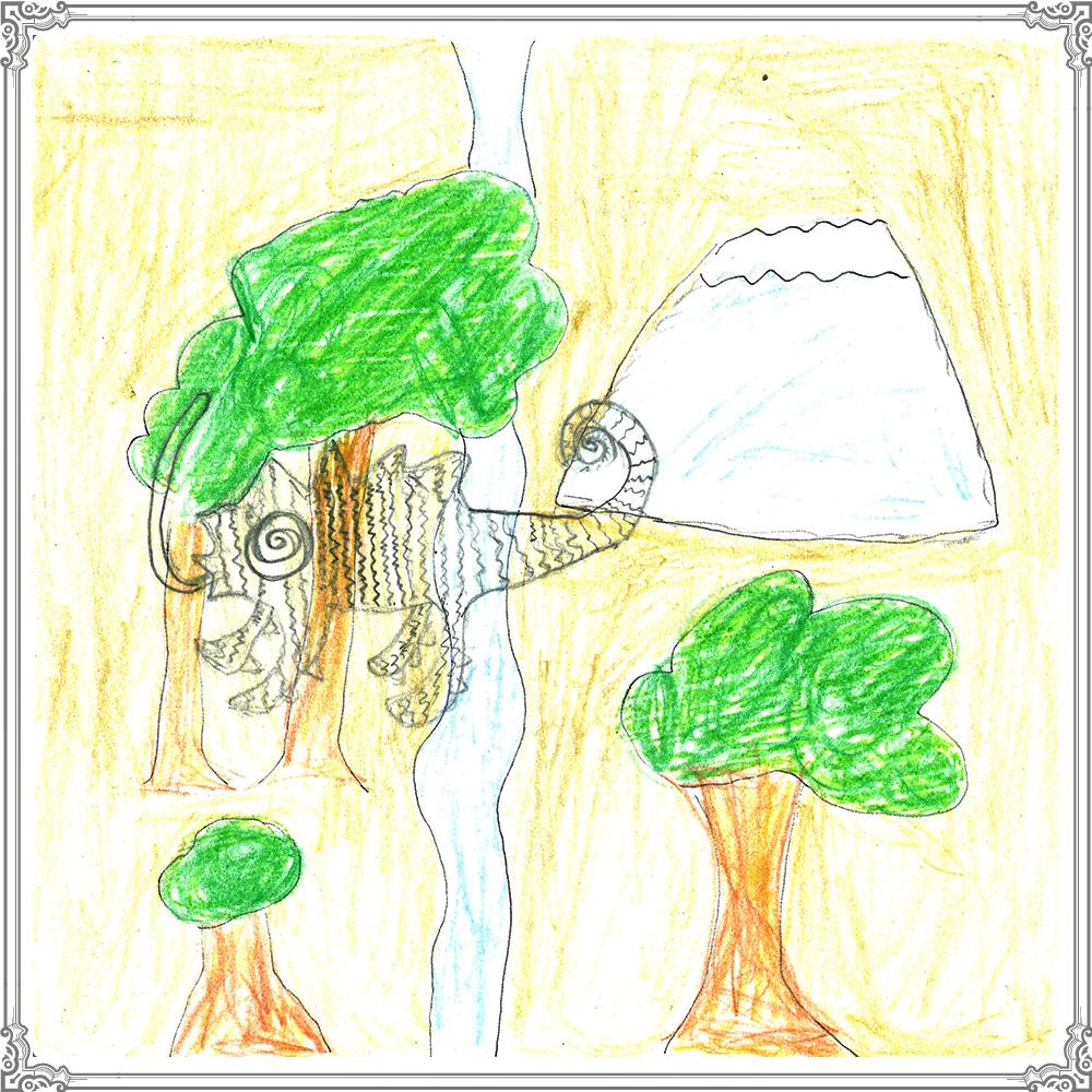 作品タイトル:森のまほうつかいビックカメレオン